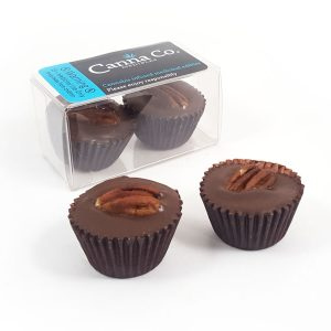Chocolate Caramel Pecan Cups by Canna Co Medibles