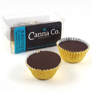 Chocolate Peanut Butter Cups by Canna Co Medibles