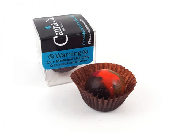 Dark Chocolate Kahlua Fudge Truffle by Canna Co Medibles