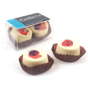Whipped Strawberry Truffles by Canna Co Medibles