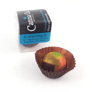 Dark Chocolate Coconut Cream Truffle by Canna Co Medibles