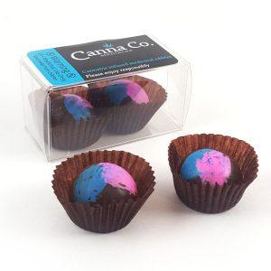 Dark Chocolate Raspberry Cheesecake Truffles by Canna Co Medibles