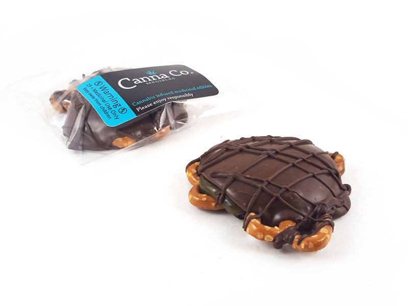 Chocolate Caramel Pretzel Turtle by Canna Co Medibles