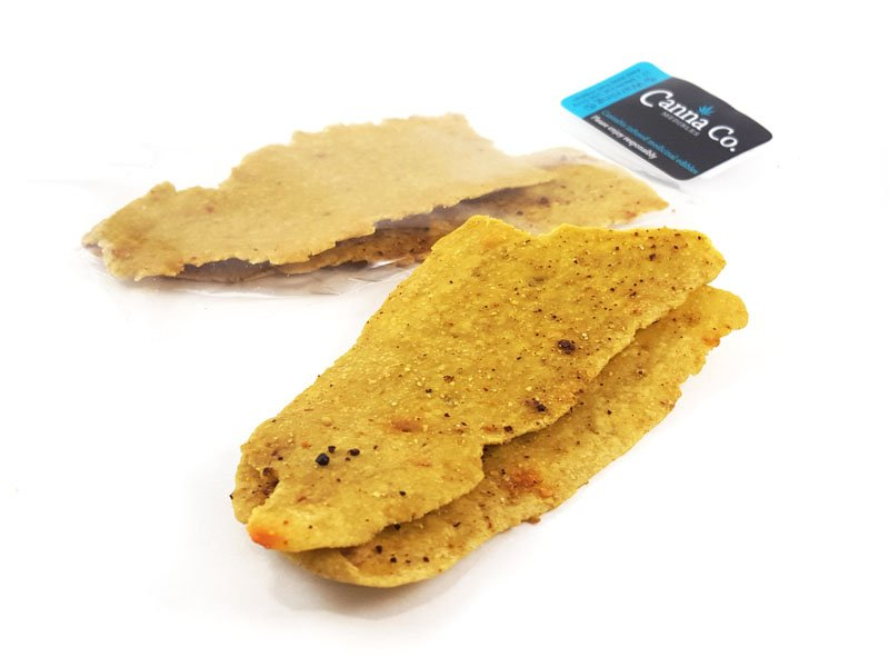 Roasted Red Pepper Herb Flatbread Crackers by Canna Co Medibles