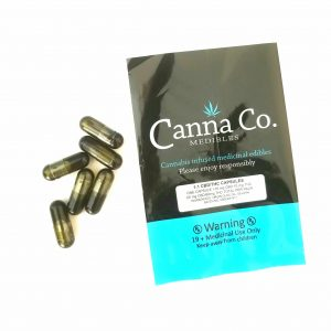CBD and THC Capsules by Canna Co Medibles