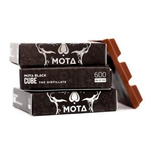 medical cannabis medical marijuana products Mota Black Milk Chocolate Cube