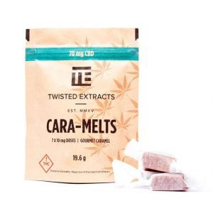 medical cannabis medical marijuana products CBD Cara-Melts by Twisted Extracts