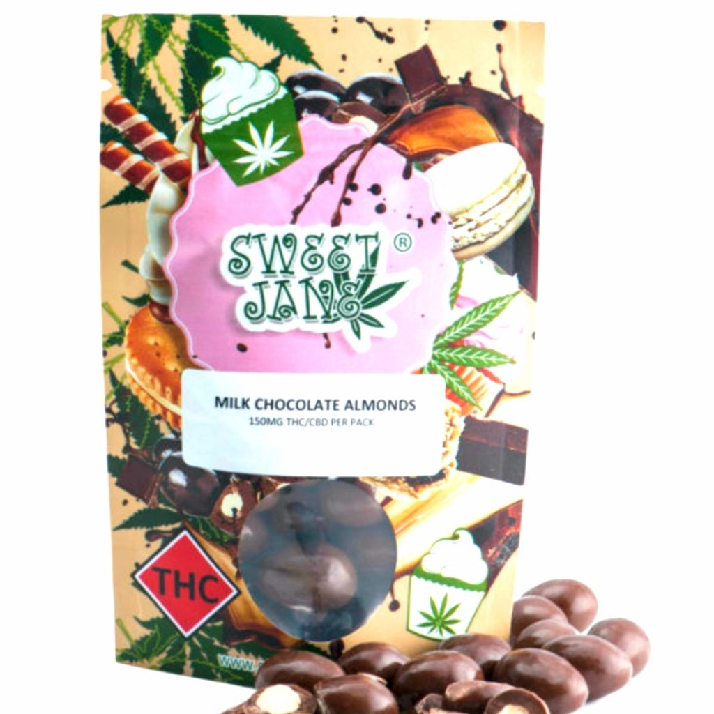 Read more on Sweet Jane Milk Chocolate Almonds – 150 mg THC