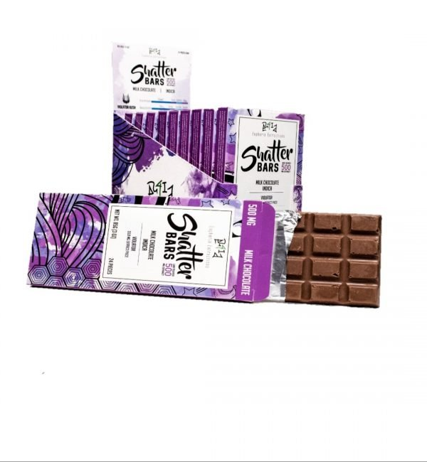 Euphoria Extractions Milk Chocolate Shatterbars Indica