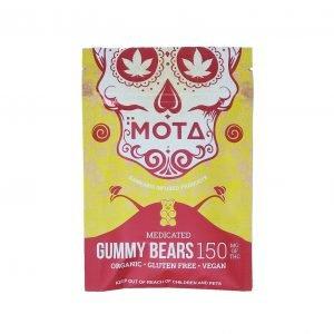 Vegan - Gluten Free - Organic Gummy Bears - Mota. 150mg THC