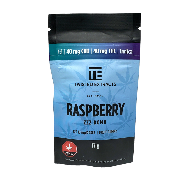 Twisted Extracts Blue Raspberry 1:1 - CBD:THC - Indica