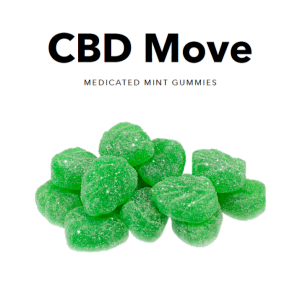 Medicated Mint CBD Gummies - CBDmove