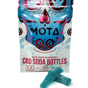 CBD Soda Bottles - Mota - Blue Raspberry - 300mg CBD