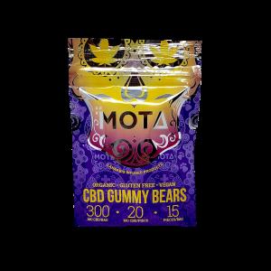 CBD Gummy Bears - Mota - Organic - Gluten Free - Vegan - 300mg CBD