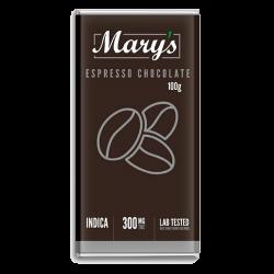 Espresso Dark Chocolate Bar – Mary's Medibles – 300mg THC