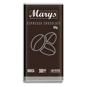 Espresso Dark Chocolate Bar - Mary's Medibles - 300mg THC