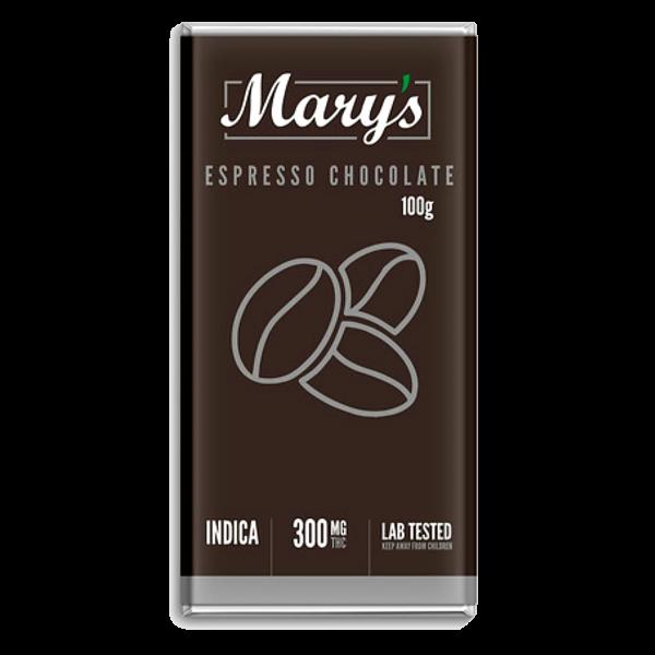 Espresso Dark Chocolate Bar - Mary's Medibles - 300mg THC