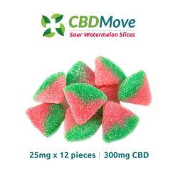 Sour Watermelon Slices – CBD – 300mg – CBDmove
