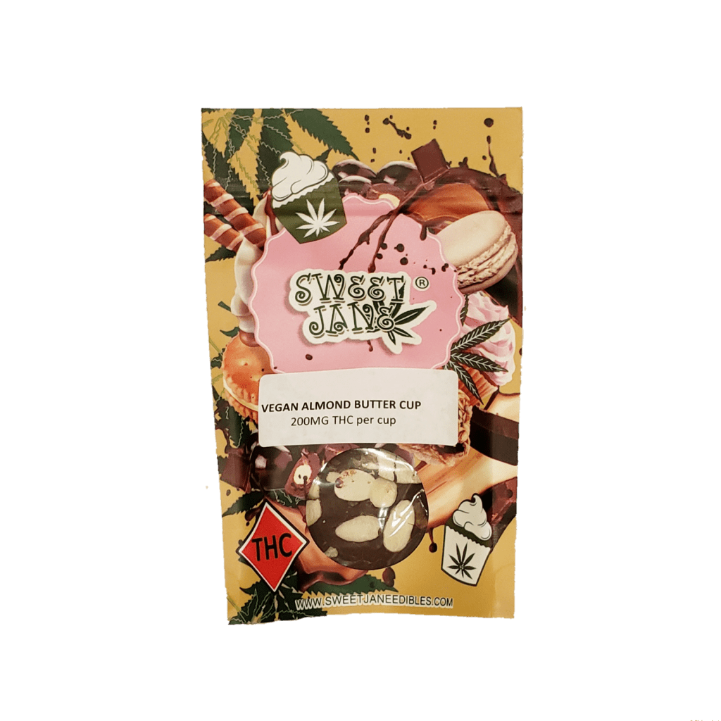 Read more on Vegan Almond Butter Cup – Sweet Jane – 200mg THC