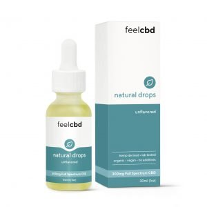 Full Spectrum CBD Drops - FeelCBD - 300mg CBD - Unflavoured