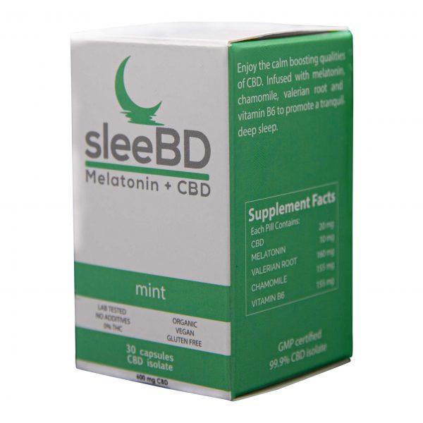CBD Sleep Aid Capsules - 600mg CBD - SleeBD - Mint