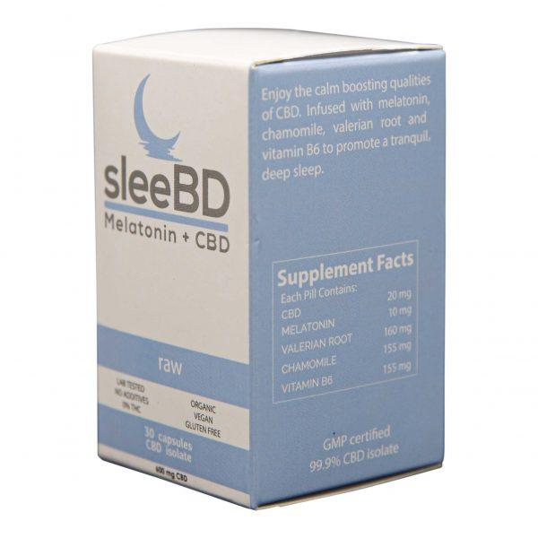 CBD Sleep Aid Capsules - 600mg CBD - SleeBD - Regular
