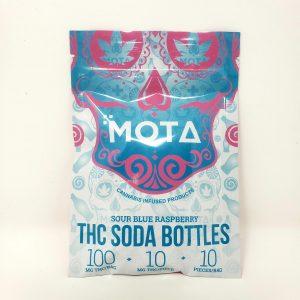 Blue Raspberry Soda Bottles - 100mg THC - Mota