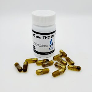 Lit THC Capsules - 50 per Bottle - Full Spectrum