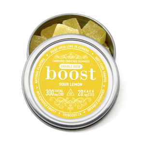 Boost CBD Sour Lemon Gummies - Distillate