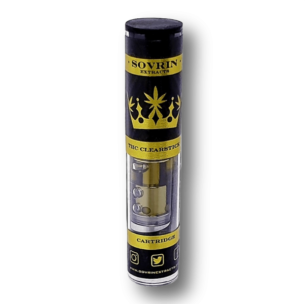 Sovrin Extracts Cartridges - THC Distillate - 90.3% THC - Organic strain specific terpenes - 510 Thread - .8ml of THC
