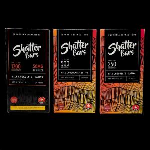 Euphoria Extractions Milk Chocolate Shatterbars Sativa