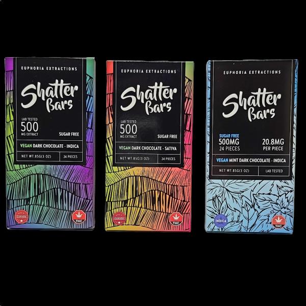 Euphoria Extractions Vegan Dark Chocolate Shatterbars