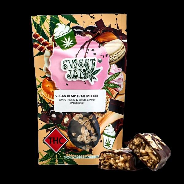 Sweet Jane Hemp Trail Mix Bar - Vegan - THC