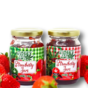 Sweet Jane Strawberry Jam - 400 mg THC - CBD