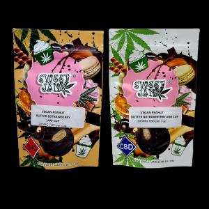 Vegan Peanut Butter & Strawberry Jam Cup - CBD - THC - Sweet Jane