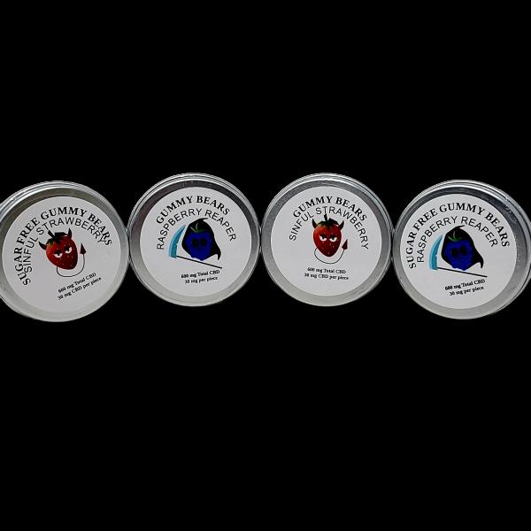 CBD Gummy Bears - 600mg CBD - Gluten Free - Hand Made - (SUGAR FREE options Diabetic Friendly)