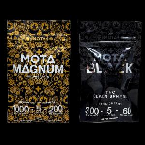 Mota Black Clear Sphere 300mg THC and 1000mg THC