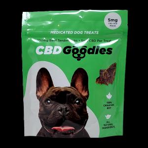CBD Goodies Dog Treats - 100% Canadian Beef - 100mg CBD - No additives or preservatives.